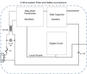 3 Wire system filer and safety connections
